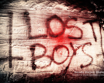 Lost Boys graffiti in St James Cemetery